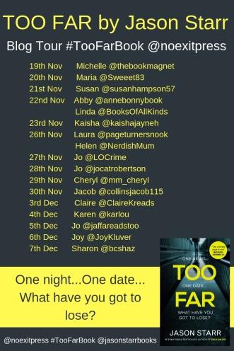 Too Far Blog Tour poster (2)